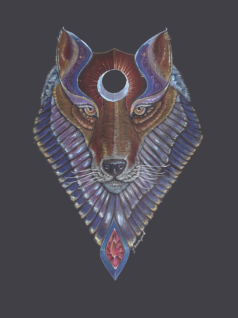 Wolf Totem by Jenny Hawkyard